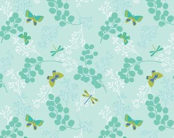Amira, Camelot Fabrics, Designed by Elizabeth Silver, Twiggy in Aqua, Fabric by the Yard, SKU: 27170105 #2