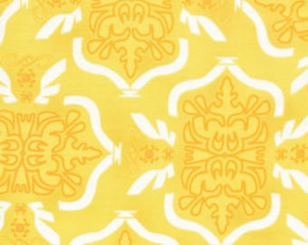 Free Spirit Fabric, Morning Tides by Mark Cesarik for Free Spirit Fabrics, MC12 Tribal in Yellow