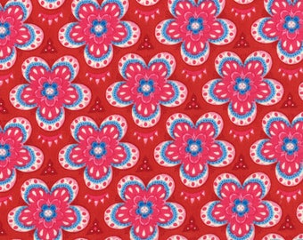 Lily Ashbury Fabric, Trade Winds by Lily Ashbury for Moda Fabrics, 11456-16 Moroccan Red