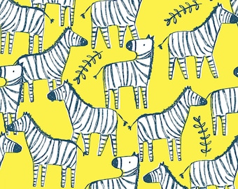 Hakuna Matata, Dear Stella Fabric by the Yard, Banana Zebraville, ST-971BANA