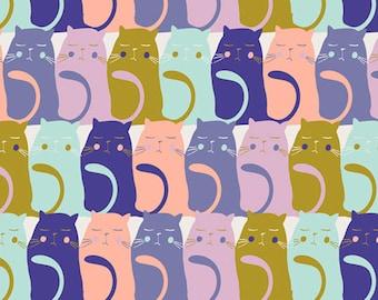 Art Gallery Fabrics, Catitude Slumber, Oh, Meow!--Quilters Cotton OEKO-TEX Standard 100 Certified--OHM-33448