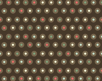Riley Blake Fabric, Domestic Diva by Emily Taylor, C5013 Dots on Brown