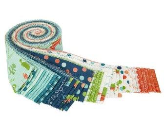 "Ready, Set, Splash 2 1/2"" Rolie Polie - 40 Pcs by Sandy Gervais for Riley Blake Designs - Fabric Strips - RP-9890-40"