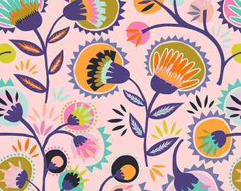 Art Gallery Fabrics, Kattaland Flora, Oh, Meow!--Quilters Cotton Fabric, OEKO-TEX Standard 100 Certified--OHM-33440