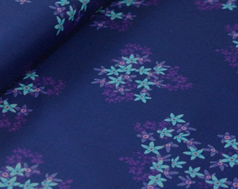 Club Havana Florecita Navy, Riley Blake Designs, Club Havana by Patty Young. 100% cotton fabric by the yard, C7282-NAVY