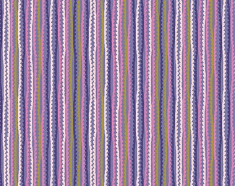 Art Gallery Fabrics, Untangled Strings Purple Stripes, Oh, Meow!--Quilters Cotton OEKO-TEX Standard 100 Certified--OHM-33443
