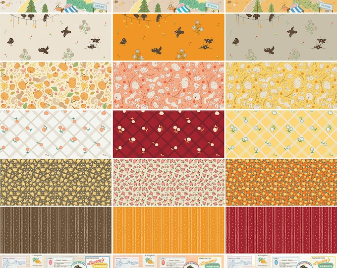 Featured listing image: FREE SHIPPING: Calico Crow Fat Quarter Bundle, Complete Collection of 21 Fat Quarters by Patty Young for Riley Blake Designs