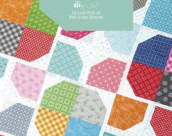 "Sugar Stars Quilt Pattern by Lori Holt of Bee In My Bonnet for Riley Blake Designs - Quilt Finished Size 60""X80"" - PO18SUGARSTARS"