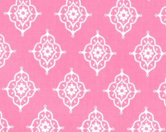 Lily Ashbury Fabric, Trade Winds by Lily Ashbury for Moda Fabrics, 11457-17 Tea Rose