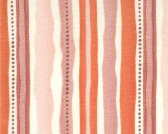 Kate Spain Fabric, Fandango by Kate Spain for Moda Fabrics, 27051-15 Raya Orange Wavy Stripes