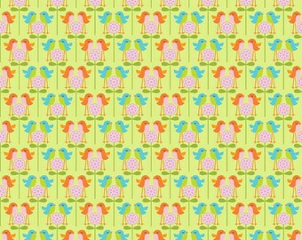 Happier Fabric by Deena Rutter for Riley Blake Designs, C5504 Green Birds