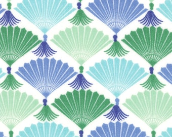 Kate Spain Fabric, Bonsai Fans, Good Fortune by Kate Spain for Moda, 27103-12