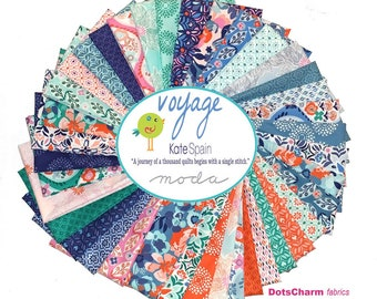 FREE SHIPPING: Kate Spain Voyage Fat Quarter Bundle, 38 Fat Quarters, by Kate Spain for Moda Fabrics Quilting Fabric Scraps
