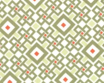 Kate Spain Fabric, Pagoda Tea, Good Fortune by Kate Spain for Moda Fabrics, 27108-15