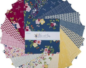 "Bloom and Grow 10 Inch Stacker - 42 Pcs designed by Simple Simon and Co for Riley Blake Designs - 10""x10"" Fabric Squares - 10-10110-42"