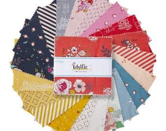 "Idyllic 5"" Stacker, 42 piece pack of Designer Quilting Cotton Scraps by MinkiKim for Riley Blake Designs--5-9880-42"