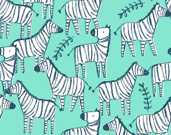 Hakuna Matata, Dear Stella Fabric by the Yard, Opal Zebraville, ST-971OPAL