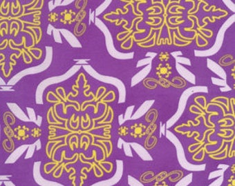 Free Spirit Fabric, Morning Tides by Mark Cesarik for Free Spirit, MC12 Tribal in Purple