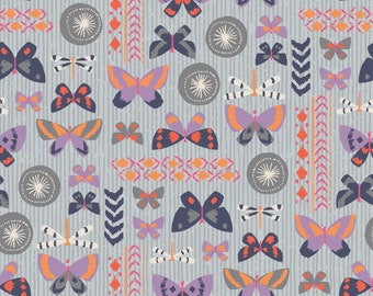 Amira, Camelot Fabrics, Designed by Elizabeth Silver, Butterflies in Stone, Fabric by the Yard, SKU: 27170101 #1
