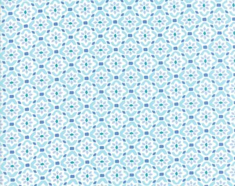 Kate Spain Voyage Fabric by the Yard, Porto in Cloud Blue, Moda Fabrics, 27287-13