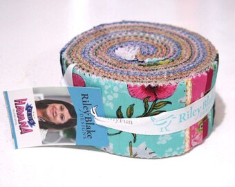 "Club Havana 2.5 Inch Rolie Polie - 40 Pcs by Patty Young for Riley Blake - 2.5"" Fabric Strips - RP-7280-40"