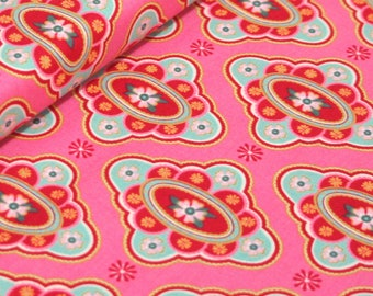 Domestic Bliss by Liz Scott for Moda Fabrics, 18071-13 At the Table Pink