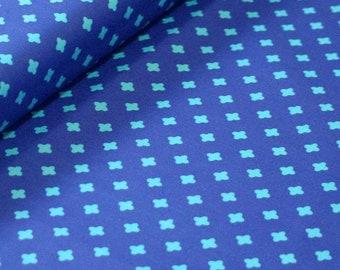 Club Havana Cross Blue, Riley Blake Designs, Club Havana by Patty Young. 100% cotton fabric by the yard--C7285-BLUE