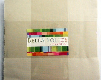 NATURAL Layer Cake Bella Solids Moda Basics 42 pieces 10x10 inch squares--beige neutral--9900LC 12