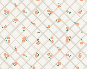 Penny Rose Fabric by the Yard, Calico Crow Plaid, by Lauren Nash for Riley Blake Designs, C7303-CREAM