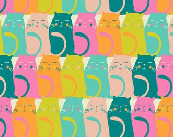 Art Gallery Fabrics, Catitude Snooze, Oh, Meow!--Quilters Cotton OEKO-TEX Standard 100 Certified--OHM-33450