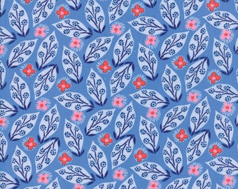 Kate Spain Voyage Fabric by the Yard, Jambi in Delft Blue, Moda Fabrics, 27282-17