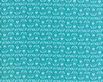 Kate Spain Voyage Fabric by the Yard, Capri in Turquoise Blue, Moda Fabrics, 27285-11