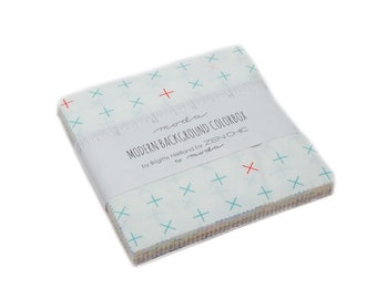 Charm Pack, Modern Background BG  Colorbox, by Zen Chic Moda Fabrics, 42 pieces 5x5 inch fabric squares--low volume --1640PP
