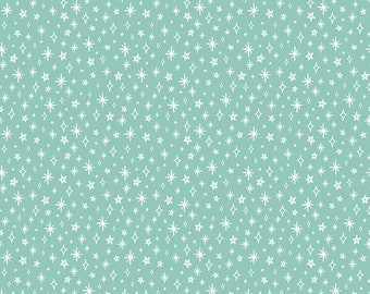 GRL PWR, Riley Blake Fabrics, Mint Girl Power Sparkle, Premium Quilting Cotton Fabric by the Yard, C10654-Mint
