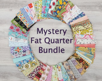 Mystery Fat Quarter Bundles in 4, 8, 16, 32, and 50 Pieces--Free Shipping