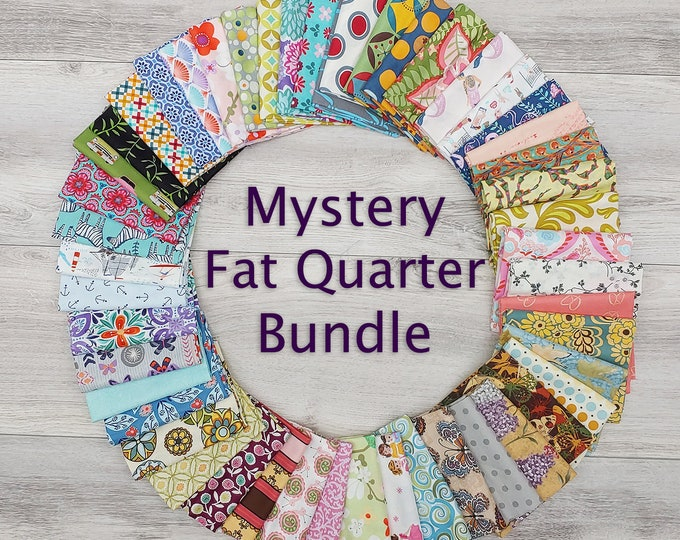 Featured listing image: Mystery Fat Quarter Bundles in 4, 8, 16, 32, and 50 Pieces--Free Shipping