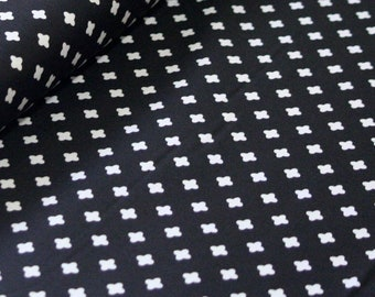Club Havana Cross Black, Riley Blake Designs, Club Havana by Patty Young. 100% cotton fabric by the yard C7285-BLACK