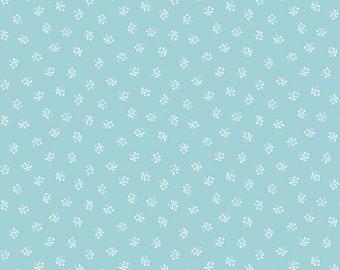 Riley Blake Fabric, Sugarhouse Park Posey Aqua, Cotton Fabric by the Yard and Fat Quarters, Quilting Fabric, C8893-AQUA