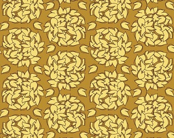 Lila Tueller Fabric, Fiona's Fancy by Lila Tueller for Riley Blake Fabrics, C2674 Fiona Balls Gold