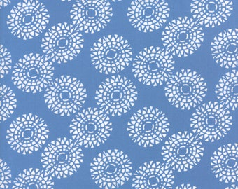 Kate Spain Voyage Fabric by the Yard, Zanzibar in Baltic Blue, Moda Fabrics, 27286-13