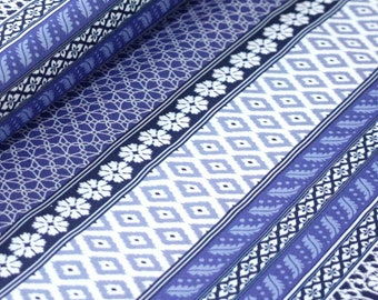 Club Havana Island Ikat Blue, Riley Blake Designs, Club Havana by Patty Young. 100% cotton fabric by the yard, C7281-BLUE