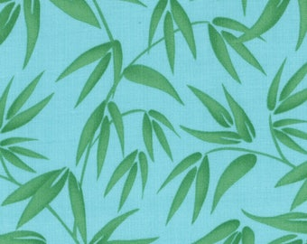 Kate Spain Fabric, Bamboo Leaves Tranquility, Good Fortune by Kate Spain for Moda Fabrics, 27106-16