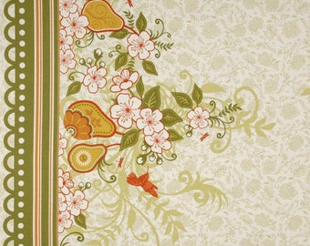 Decadence Fabric by Samantha Walker for Riley Blake Designs, C2632 Green Border