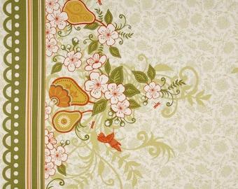 Decadence Fabric by Samantha Walker for Riley Blake Designs, C2632 Green Border