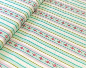 Sweet Divinity Fabric by the Yard, Stripes in Blue by The Quilted Fish for Riley Blake Fabrics, C6104
