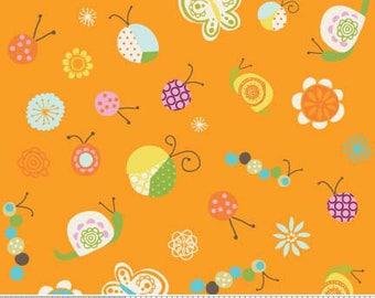 Deena Rutter Fabric, Happier by Deena Rutter for Riley Blake Fabrics,  C5501 Orange Bugs