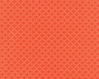 Kate Spain Voyage Fabric by the Yard, Bomeo in Mandarin Orange, Moda Fabrics, 27288-22