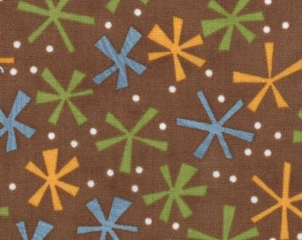 Jenn Ski Fabric, Brown Jacks, Ten Little Things by Jenn Ski for Moda, 30505-21