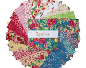 """Glohaven 10 Inch Stacker - 42 Pcs by Lila Tueller for Riley Blake Designs - 10""""x10"""" Fabric Squares - 10-9830-42"""