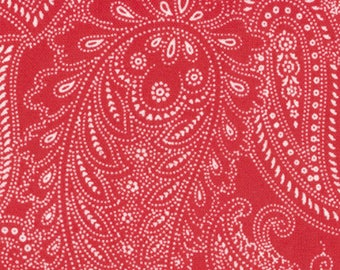 Half Moon Modern Fabric by Moda Fabrics, 32352-26 Red